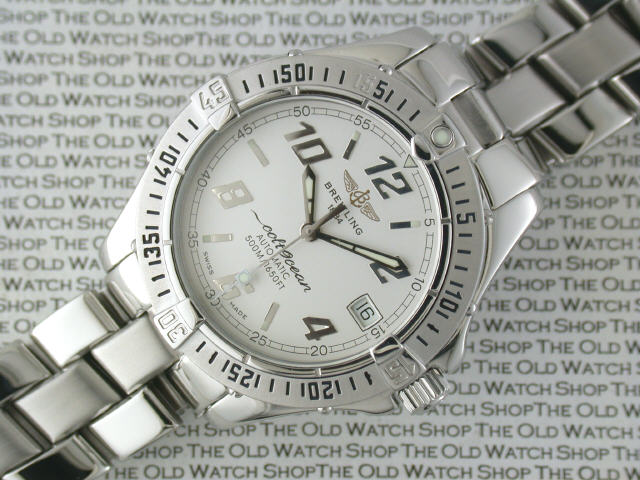 cfce1cc61a63 BREITLING  Gentleman s stainless steel Breitling Colt Ocean Chronometer  automatic date diver s bracelet watch