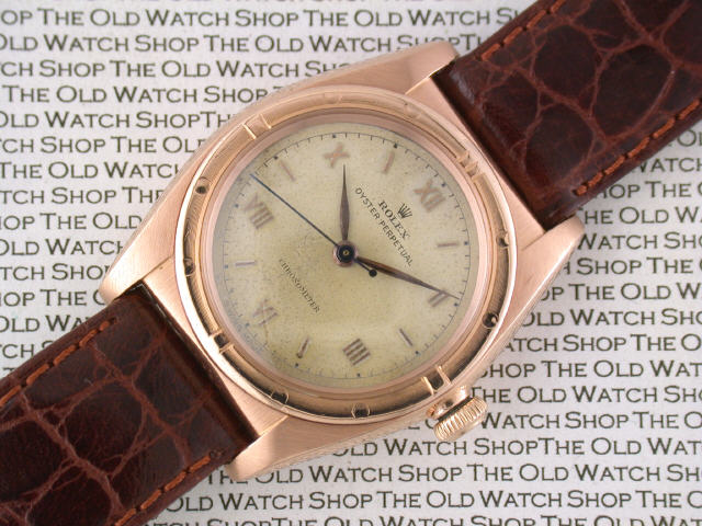 36bdac816 ROLEX: Gentleman's 14ct red gold Rolex Oyster Perpetual